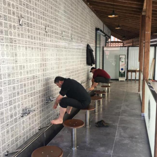 Merkez Camimizin Bay / Bayan Abdesthane ve WC yapım ....